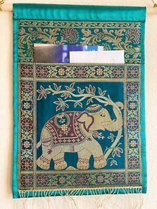 Wall decor / Wall hanging / Tapestry Art Silk, letter holder, Brocade, Organizer