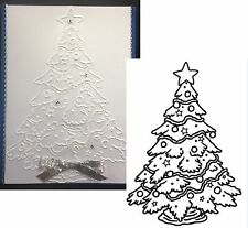 Darice embossing folders CHRISTMAS TREE DECORATED embossing folder 1218-45
