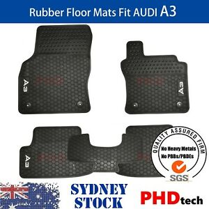 Prime Quality All Weather Rubber Car Floor Mats for Audi A3 2013~2021 5 pic Set