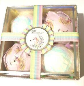Baylis & Harding Beauticology Unicorn Bath Fizzer Bombs x4 Gift Set 120g x 4