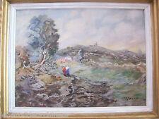 tres jolie Peinture signée début 20èmes sur panneau bois