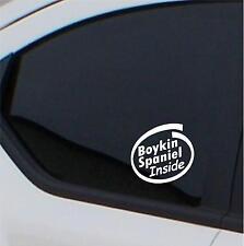 2x Boykin Spaniel  Inside stickers car decal