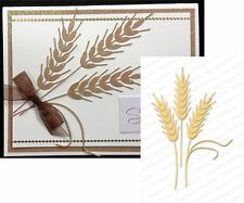 Wheat metal die Impression Obsession cutting dies DIE085X leaves fall farm
