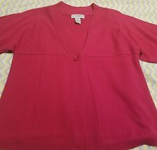Pre-owned Vintage SagHarbor Womens Sz PXL Sweater Top Rose Pink Mock Shell