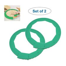 2 Pack Adjustable Pie Crust Shield, Bpa-free Silicone, Green