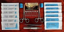 Student Practice Suture Surgical Suture Kit Sterile Sealed Suture Pack Forceps