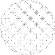 Tissue Untersetzer mit Sterne - Punkte - Prägung in Weiss, Ø 200 mm, 250 Stück