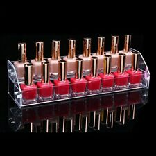 Cosmetic Lipstick Storage Transparent Nail Polish Rack Hanger Stand Holder Case