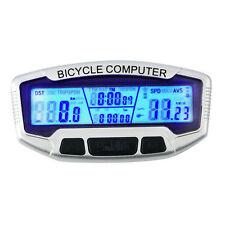 Computer Speedometer cycle Odometer Bike Waterproof Digital Display Backlight