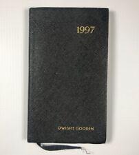 1997 Goldman Sachs Dwight Gooden's Personal Unused Calendar Planner Booklet