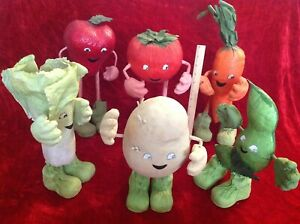 Large Paper Mache Produce Pals Figure Set Great for your kitchen or restaurant