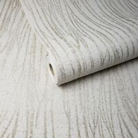 Mica chip Sparkle Glitter Ivory 3D Modern Natural Wallpaper Vermiculite Lines 3D