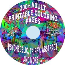 Psychedelic, Abstract, Trippy, Complex-300+ Printable Adult Coloring Pages on CD