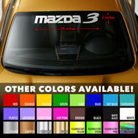 "MAZDA 3 MAZDA3 Windshield Banner Vinyl Long Lasting Premium Decal Sticker 29""x5"""