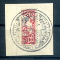 Caroline Islands 9H As Bisect Postmarked Luxury Letter Piece (H4852