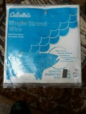 """Cabela's Single Strand Wire Non-Corrosive Stainless Steel 240 lb 76' .035""""D Jigs"""