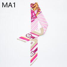 Fashion Women Silk Twill Ribbon Tied Scarf Hairband Satchel Bag Bandeau Handbag