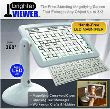 Free-standing Magnifier Screen Magnifying Glass With 360-degree Rotation LED US