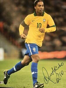 Ronaldinho Signed Auto 16x20 Brazil National Team Photo - Beckett COA