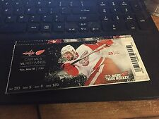 2015 DETROIT RED WINGS VS WASHINGTON CAPITALS TICKET STUB 11/10 MIKE GREEN