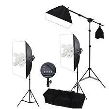 PRO Continuous Studio Lighting Kit Photography Softbox Video Boom Arm Soft Box