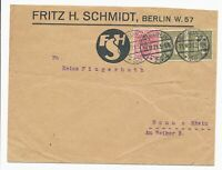 DR MiNr 159 2x 145 Berlin 21.12.21 nach Bonn FSH Fritz H Schmidt