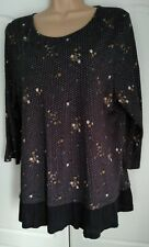 FAT FACE NAVY FLORAL TOP SIZE 16 VGC