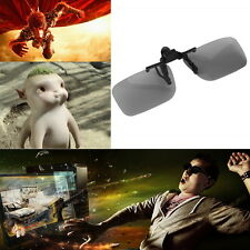 Clip On Passive Circular Polarized 3D Glasses Clip for LG 3D TV Cinema Film BE