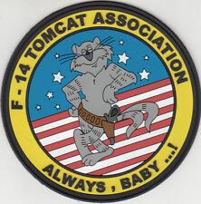 F-14 TOMCAT ASSOCIATION ALWAYS, BABY...! PVC PATCH