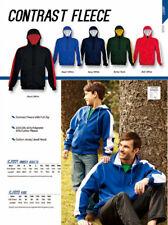 Kids Unisex Boys Girls Contrast Fleece Jumper Hoodie w/ Cotton Jersey Lined Hood