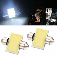 White 31mm 12smd COB LED DE3175 Bulbs For Car Interior Dome Map Lights dc 2pcs
