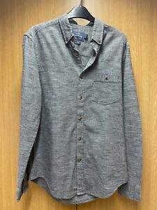 Men's Grey Long  Sleeved Shirt From TOPMAN Classic Fit UK Small VGC
