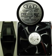 "NEW 4.72*1.5""inch 120mm*38mm 12VDC/12V/9V T&T Cooling Fan/Blower 2wire 9"" tinned"