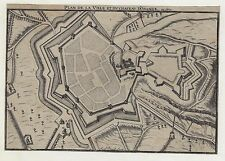 Fortified French City Plan - VILLE D'ORENGE - Copper Engraving. - c1700