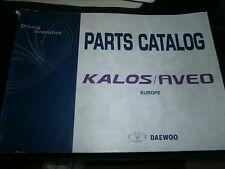 Daewoo KALOS AVEO 2003-2004 : parts catalog - catalogue de pièces détachées