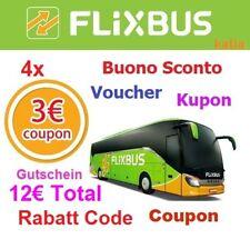 (4x3€) FLIXBUS Gutschein Code Voucher- Fast Shipping! - Gutschein Voucher NEU !!