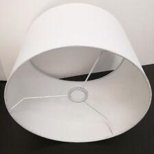 Stoff Lampenschirm E27 aus Baumwolle Weiß 40cm Textilschirm Tischlampe Stehlampe