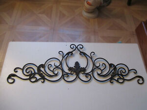 """Large Decorative Scrolling Wrought Iron Wall Grille In/Outdoor 33"""" L x 10"""" Tall"""