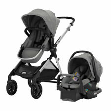 Evenflo Pivot Xpand Modular Travel System with Infant Car Seat, Gray (Open Box)