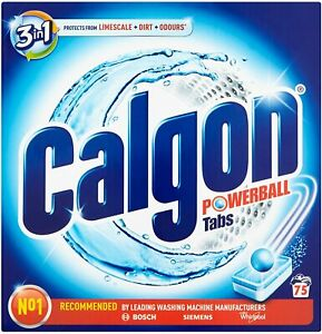 Calgon Washing Machine Express Ball Tablets Tabs Cleaner Prevents Limescale x 75