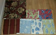 Thibaut Designer Fabric Floral Sea Seashells Upholstery Fabric Craft Remnants