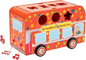 Mr Tumble Wooden Shape Sorting Bus with Light & Sound 1192