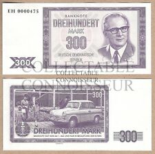 East Germany DDR 300 Mark 2016 UNC SPECIMEN Test Banknote - Trabant Car Honecker