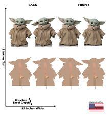STAR WARS THE MANDALORIAN THE CHILD Yoda 4PC STANDUP Life Size Standee