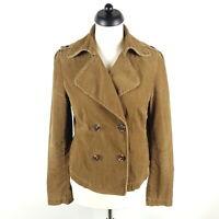 Marc O'Polo Cord Cabanjacke Damen Gr. 38 Braun Kurze Jacke