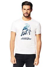 Lamborghini Men's Big Bull T-Shirt, White
