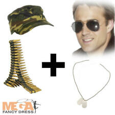 Military Army Kit Adults Fancy Dress Camouflage Mens Ladies Costume Accessories