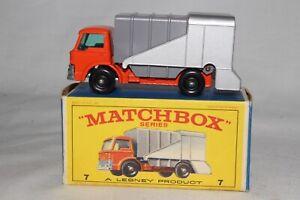 MATCHBOX LESNEY #7C FORD REFUSE GARBAGE TRUCK, ORANGE, BOXED TYPE E, LOT C