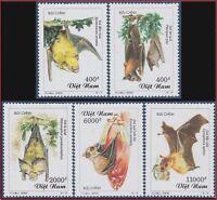 RARE VIETNAM N°1933/1937** Chauve-souris, 2000 Vietnam 3010-3014 Bats MNH
