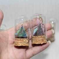 Natural Rainbow Bismuth Ore Quartz Crystal Mineral Specimen Reiki Healing Stone